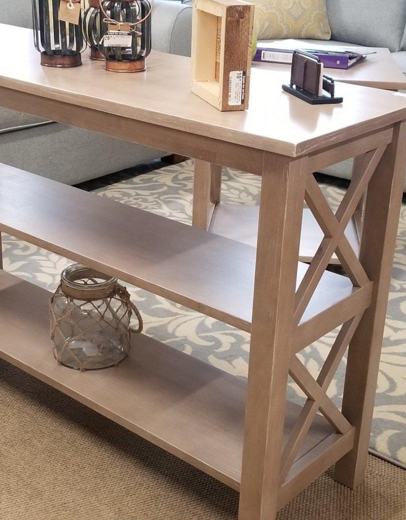 Amazing Whitewood Hampton 48 Sofa Table W Shelves Taupe Gray Pdpeps Interior Chair Design Pdpepsorg