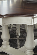 Whitewood GrovePark Black Pearl/Shell Dining Table W/ Turned corners and 6 Chairs