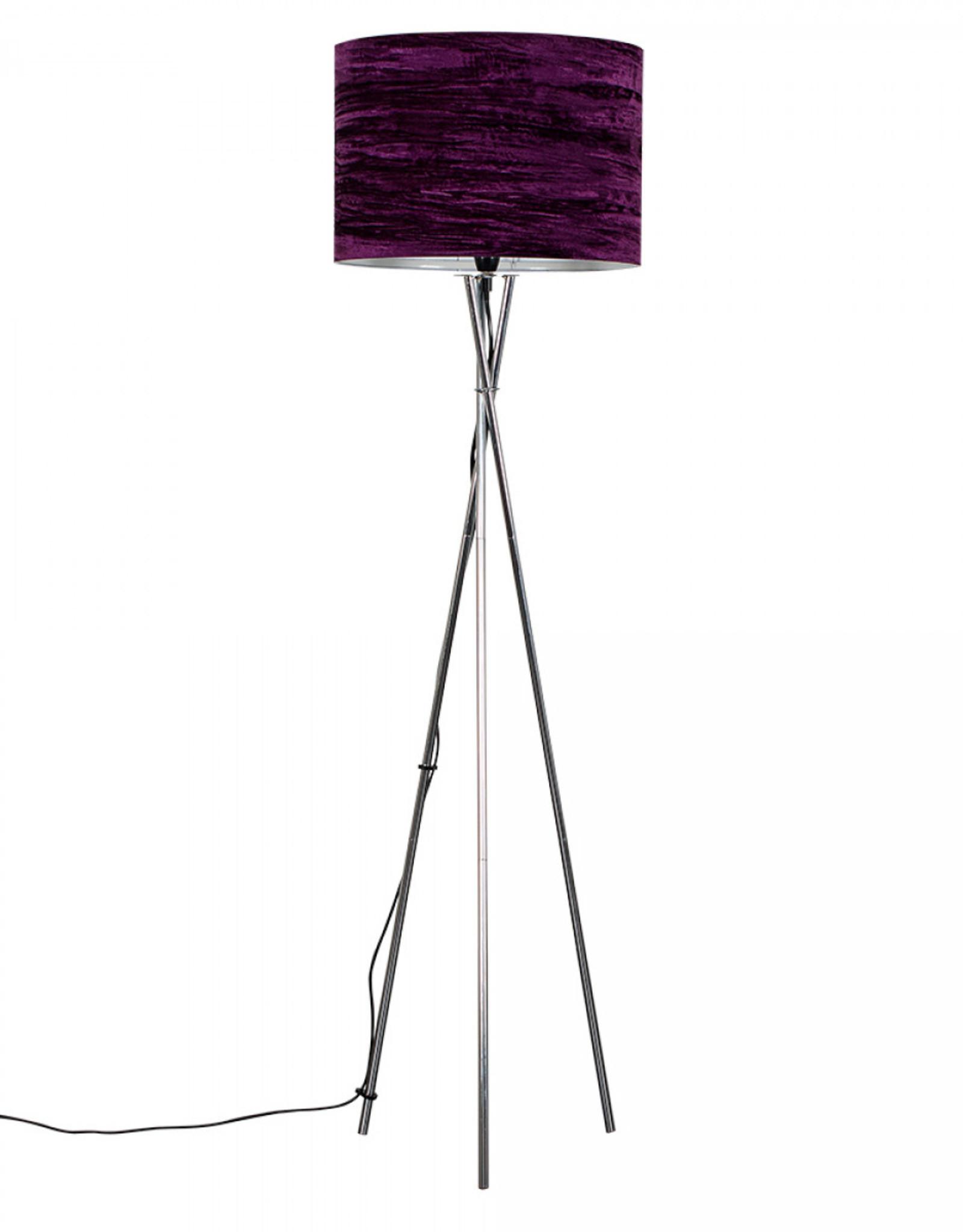 Crownmark Chrome Floor Lamp