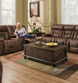 United Dorado Walnut 3pc set. Sofa, loveseat Rocker Recliner