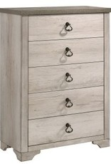 Crownmark Patterson Distressed White Chest of Drawers
