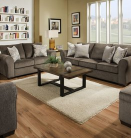 United Harlow Ash Sofa and Loveseat