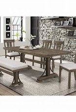 Crownmark Quincy Traditional Height Dining Set w/ 6 Chairs