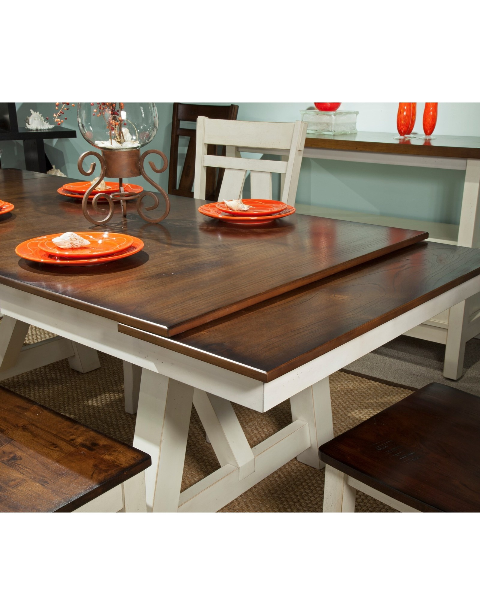 Bernards Winslow Dining Table - Two Tone