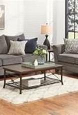 United Albany Pewter Sofa and Loveseat Set