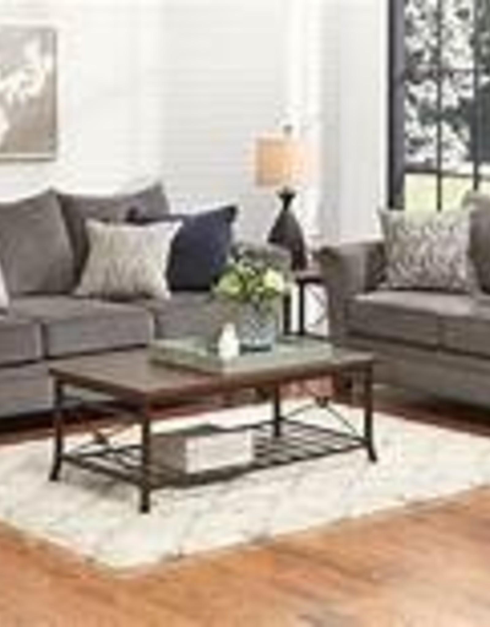 Lane Albany Pewter Sofa and Loveseat Set
