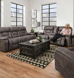 Lane Dorado Charcoal Dual-Reclining Sofa and Love Seat Set - No Power