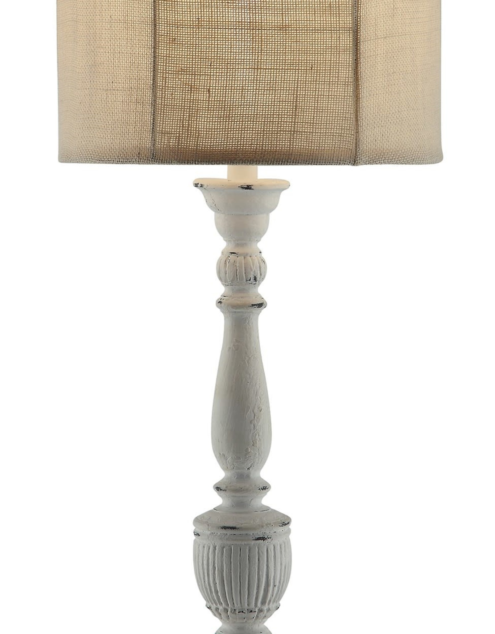 Crestview Layton Table Lamp w/ Burlap Shade