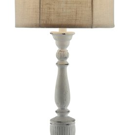 Crestview Layton Table Lamp w/ Burlap Shade
