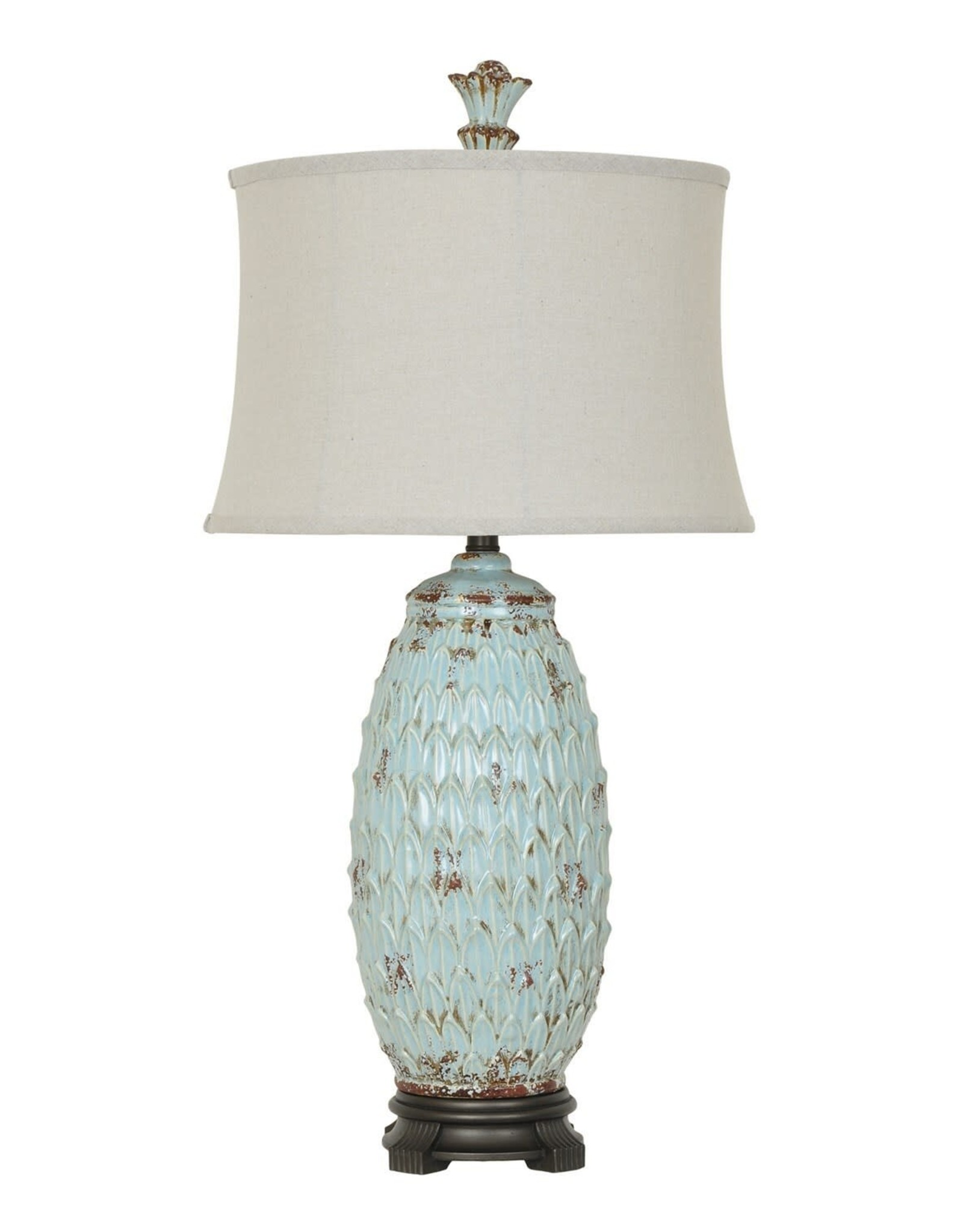 Crestview Colony Table Lamp w/ Linen Shade