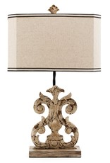 Crestview Lewiston Table Lamp w/ Linen Shade