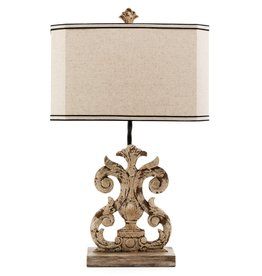 Crestview Lewiston Table Lamp w/ Linen Shade