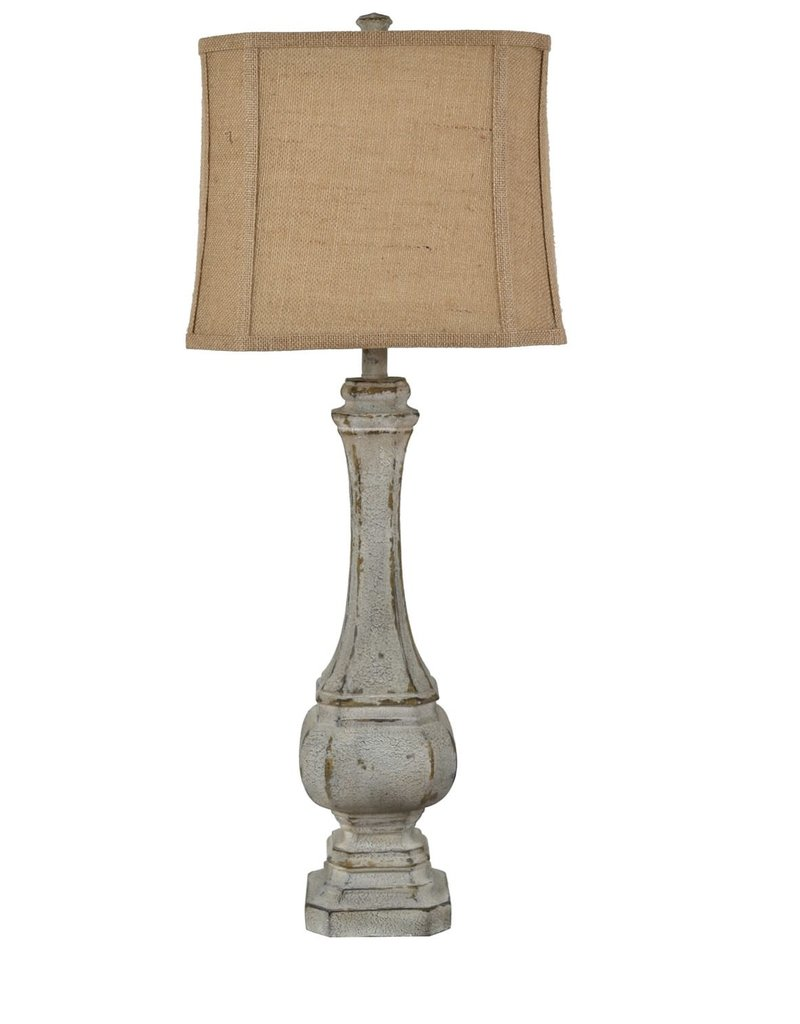 Crestview Mesa Table Lamp w/ Burlap Shade