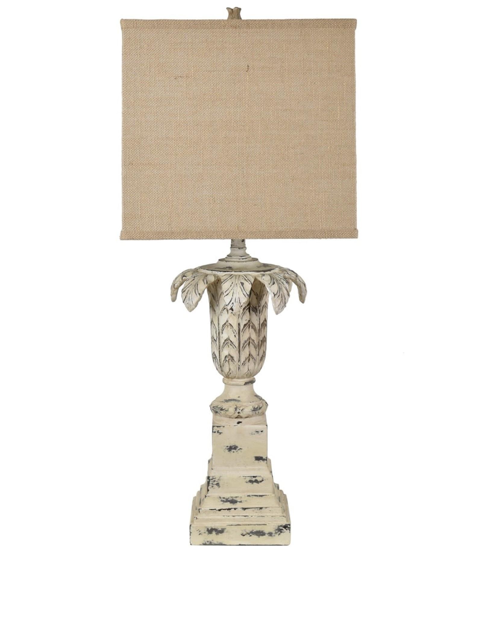Crestview Ashlar Table Lamp w/ Burlap Shade