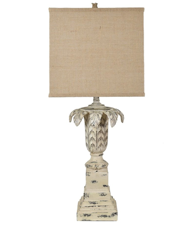 Crestview Ashlar Table Lamp w/ Burlap Shade