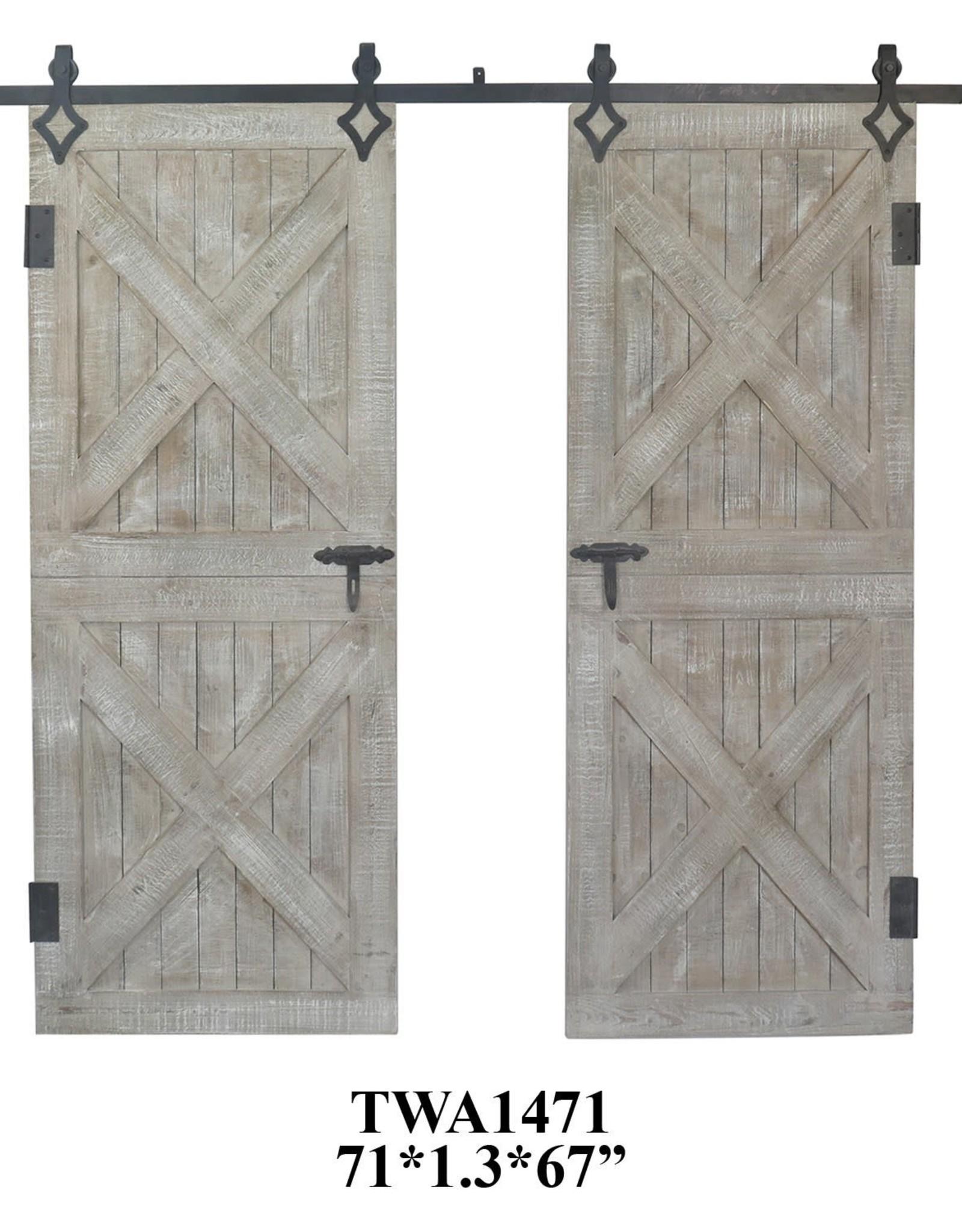 Crestview Double Rustic Barn Door Wall Decor Set