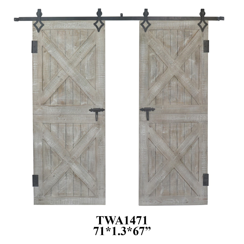 Double Rustic Barn Door Wall Decor Set Bargain Box And Bunks