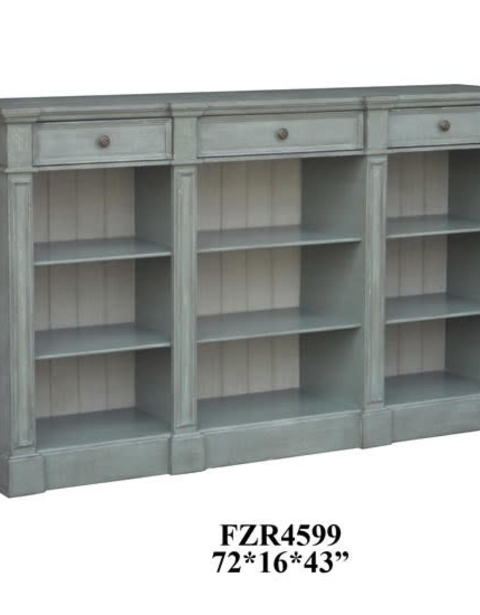 Crestview Bedford 3-Drawer Console Bookshelf Table