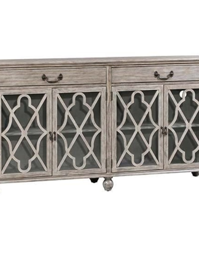 Crestview Hawthorne Estate 2 Drawer 4 Door Fretwork Sideboard