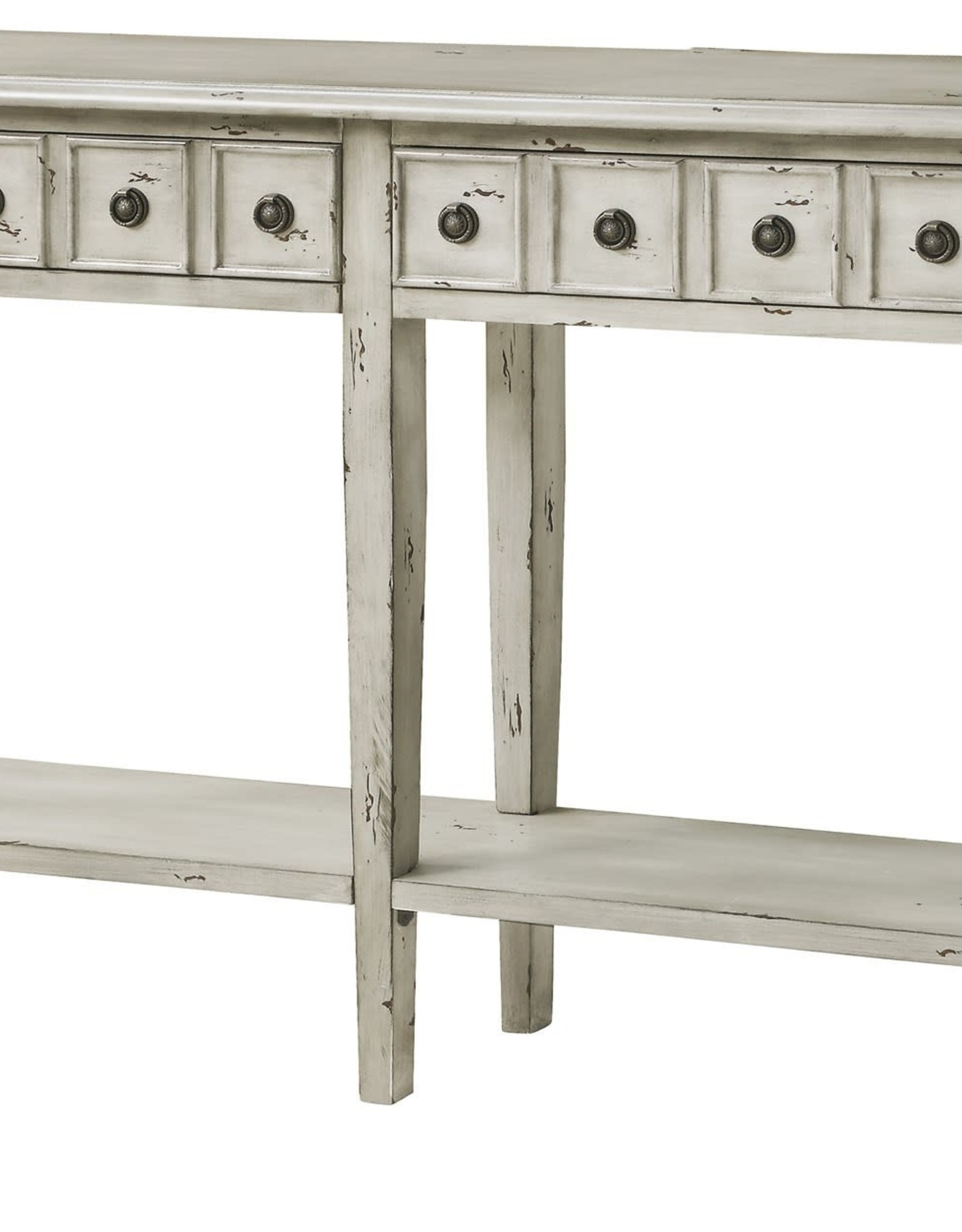 Crestview Newcastle 2 Drawer Antique White Console