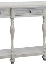 Crestview Caroline Antique white console table w/ drawer