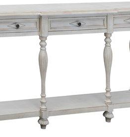 Crestview Caroline Antique white console table w/ drawer