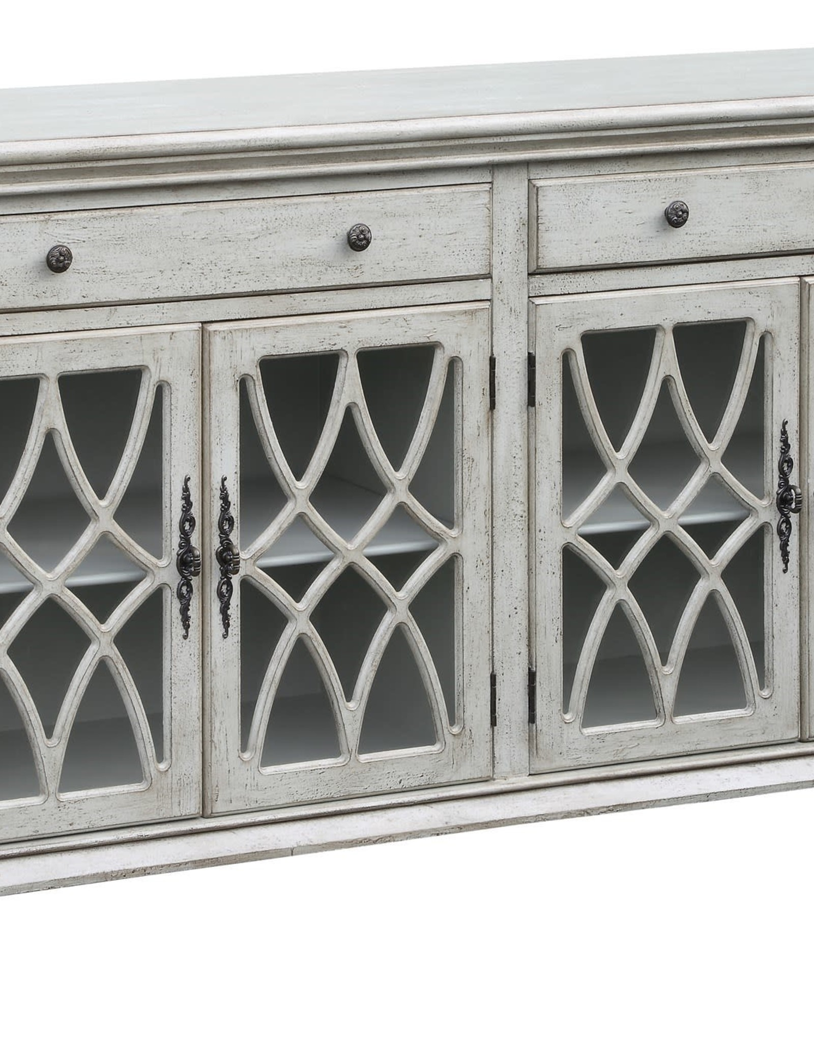 Crestview Paxton Pale Grey Sideboard