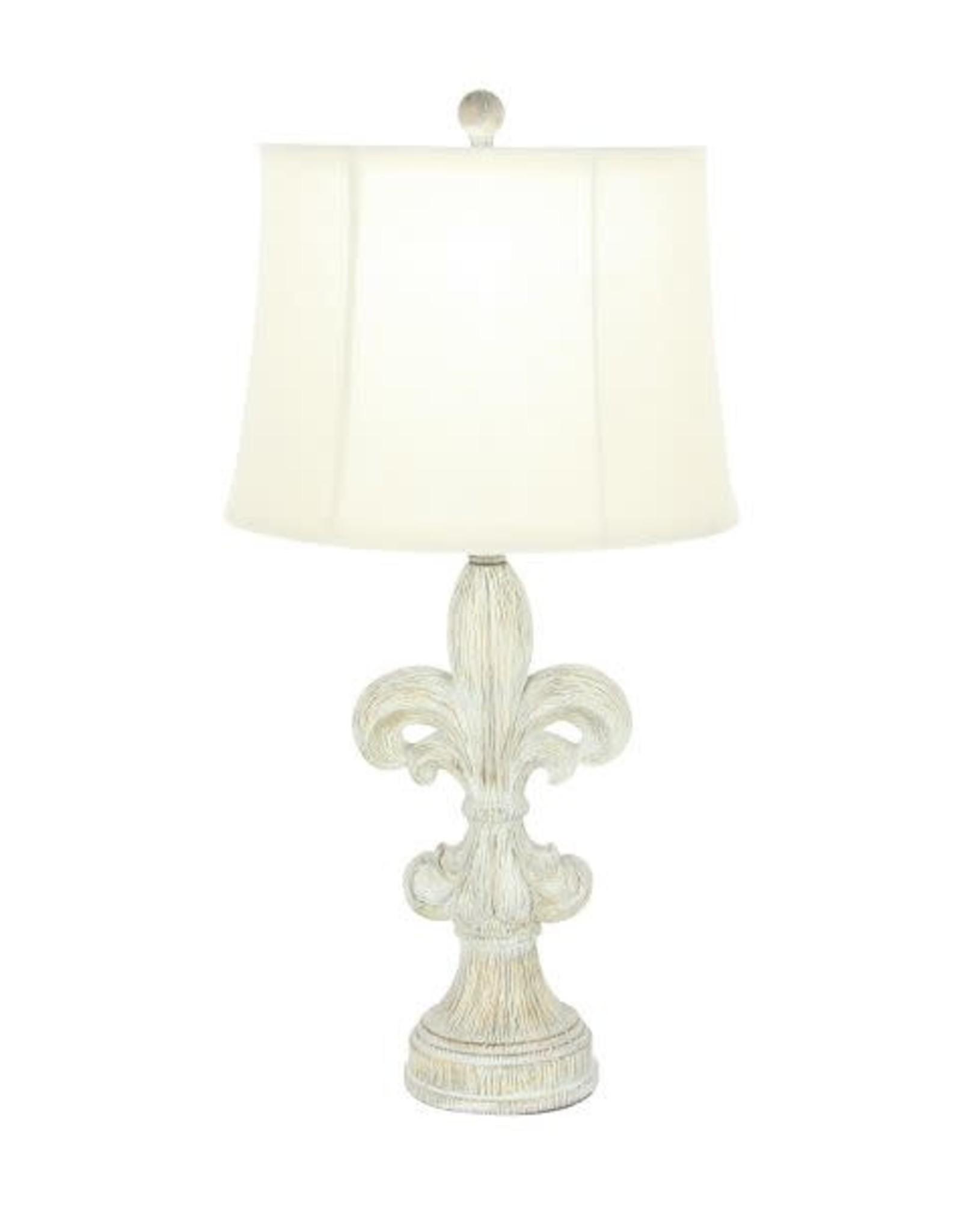Resin Le Fleur Table Lamp w/ Shade