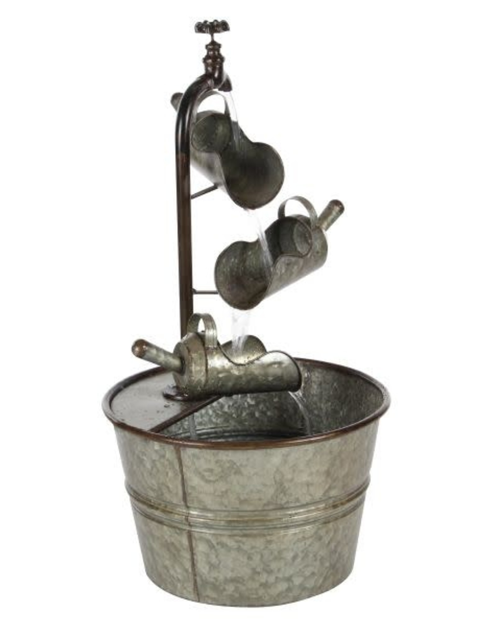 Metal 3-Tier Fountain w/ mini pitchers