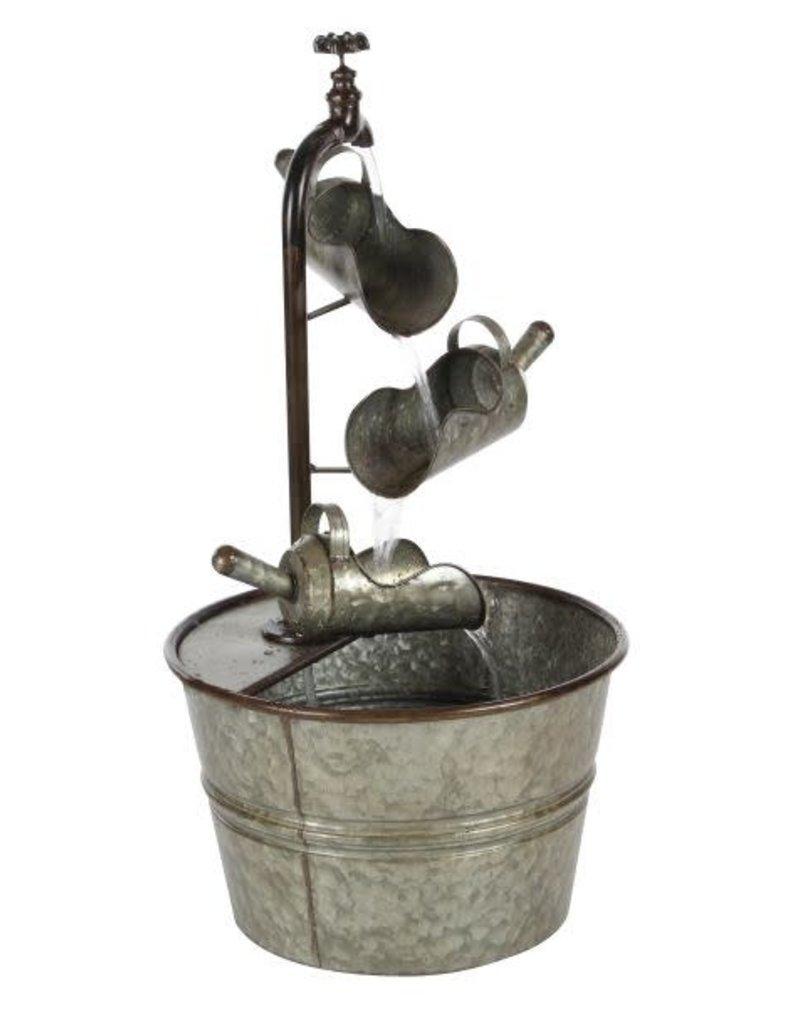 Metal 3-Tier Fountain w/ mini pitchers