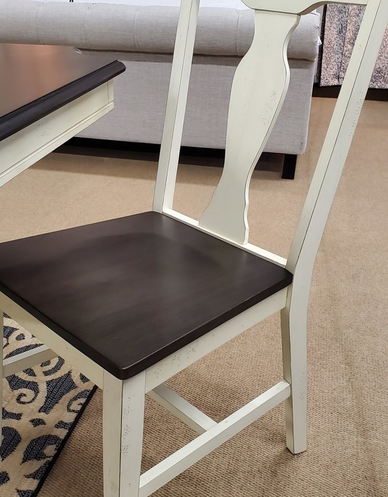 Whitewood Grovepark Collection 2pk Chairs Black Pearl/Shell