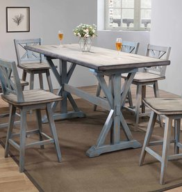 Bernards Summerville Counter-height  Dining Table w/ 6 chairs