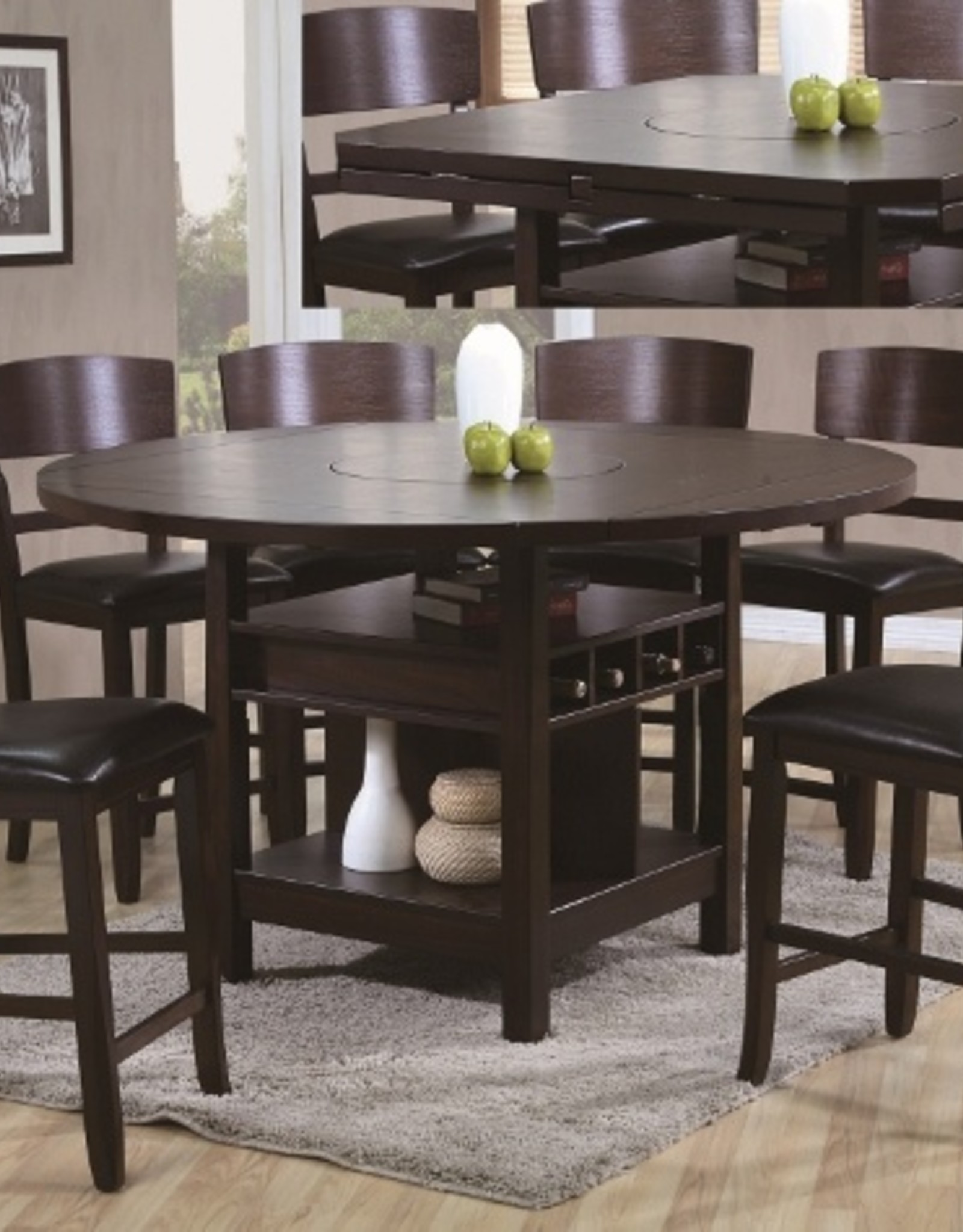 Crownmark Conner counter height table with 6 chairs