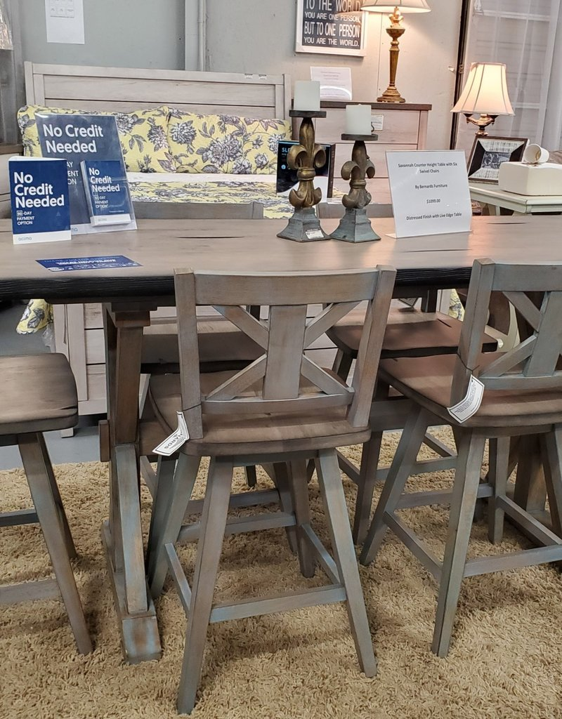 Bernards Summerville Counter-height  Dining Table w/ 6 chairs