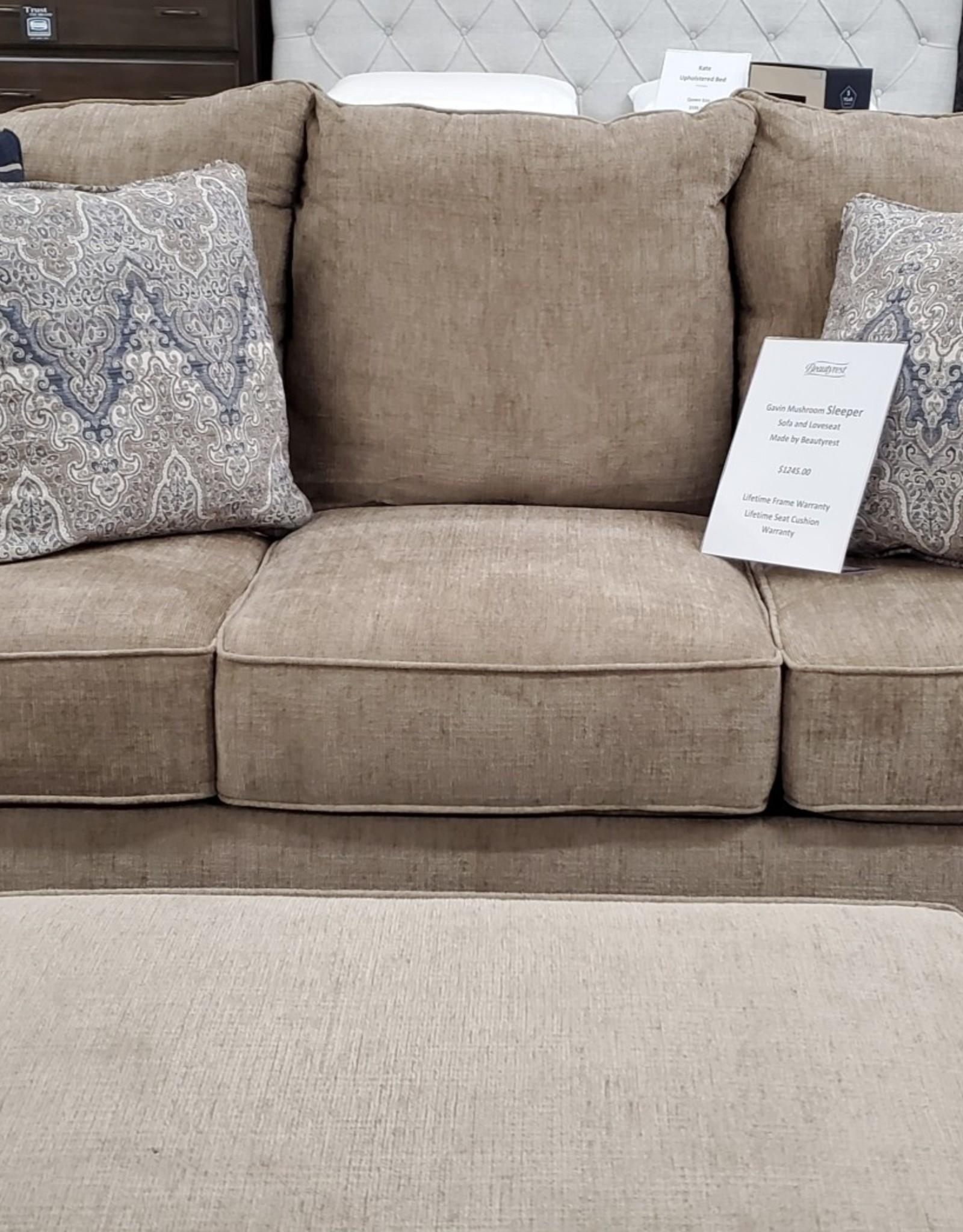Lane Gavin Mushroom Sofa w/ Queen Sleeper