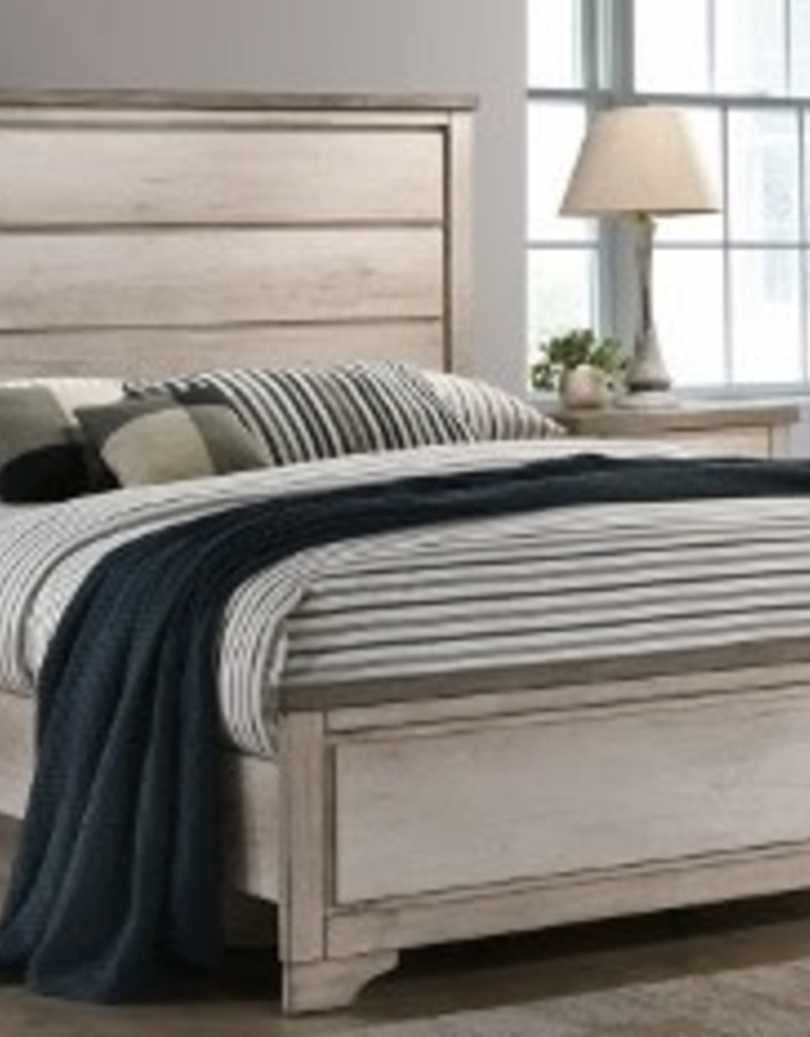 Patterson Distressed White Panel Bed Bargain Box And Bunks