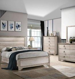 Crownmark Patterson Distressed White Bedroom Set