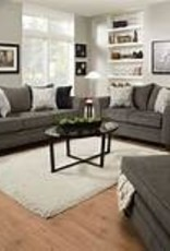 United Albany Pewter Sofa, Loveseat and Ottoman