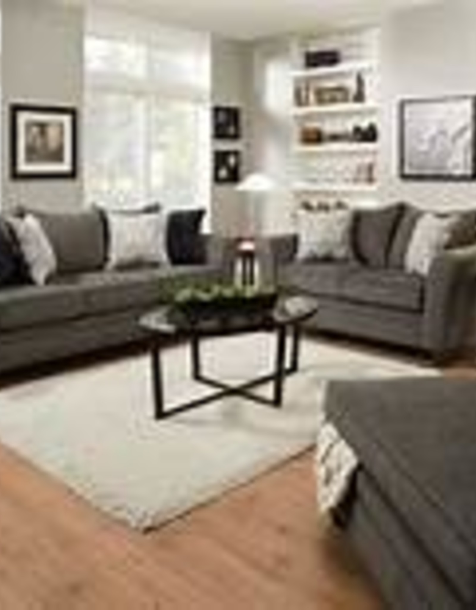 Lane Albany Pewter Sofa, Loveseat and Ottoman