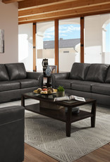 United Soft Touch Fog Leather Sofa & Loveseat