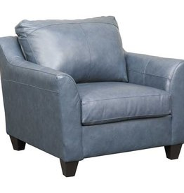 Lane Soft Touch Fog Leather Chair