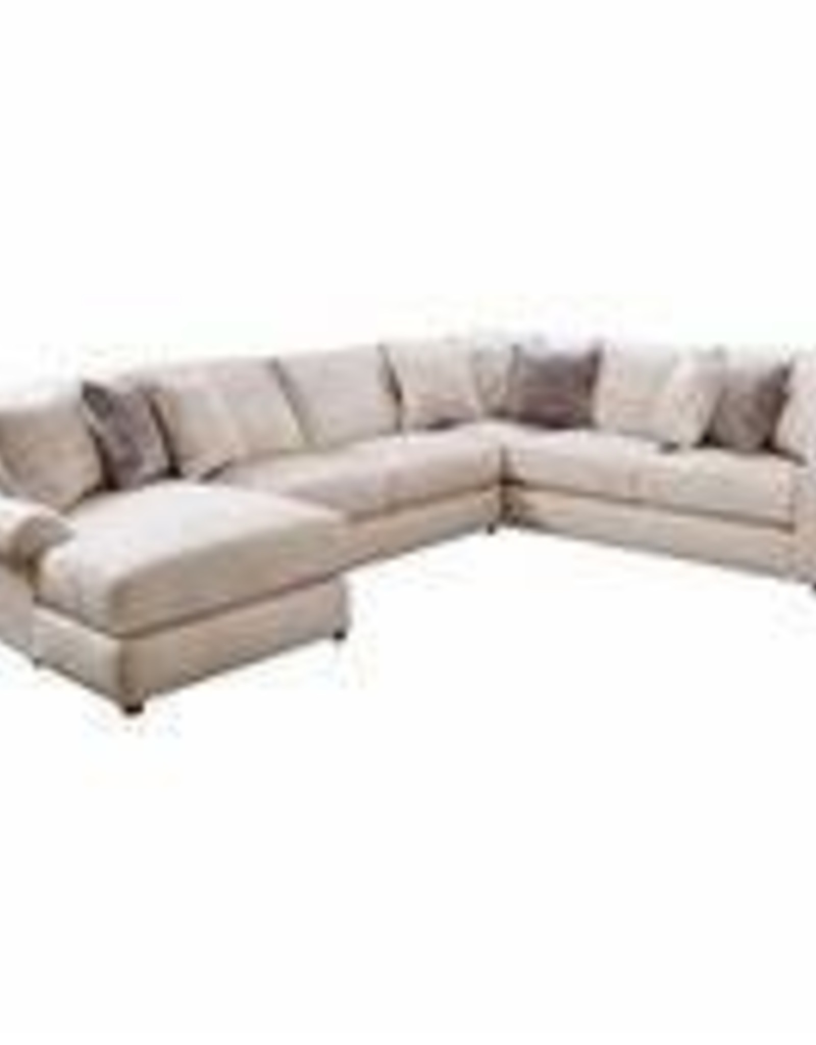 United 9902 Pompeii Snow Sectional (4 piece)