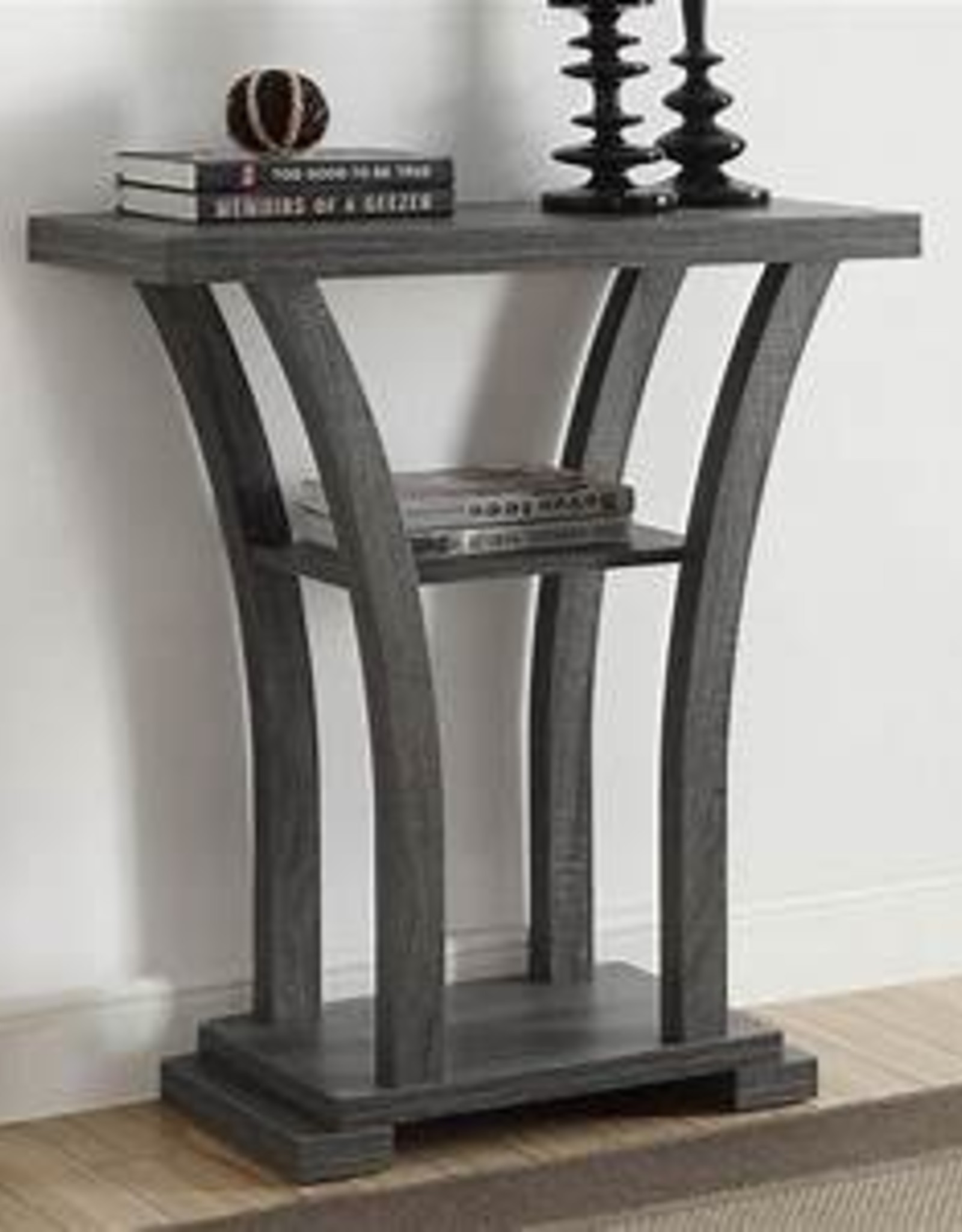 Crownmark Draper console table gray