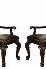Crownmark Kiera Dining Chair w/ Faux Leather Seats