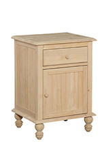Whitewood Cottage 1 Drawer Nightstand Unfinished