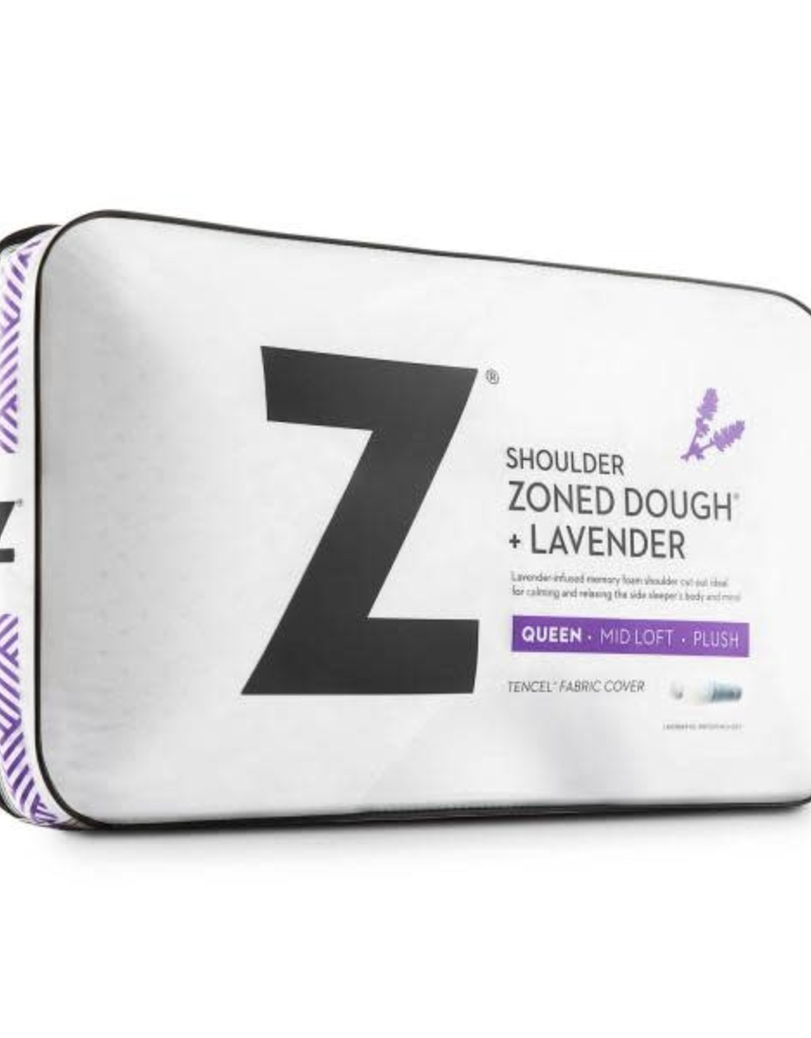 Malouf Z Shoulder Cutout Zoned Dough Pillow - Lavender