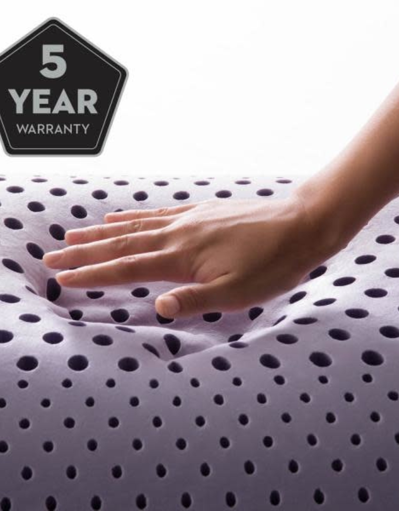 Malouf Z Shoulder Cutout Zoned Dough Pillow - Lavender