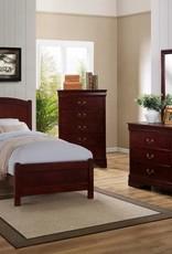 Crownmark Helena Bedroom - Twin Size (Cherry)