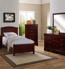 Crownmark Helena Bedroom - Twin Size (Cherry)