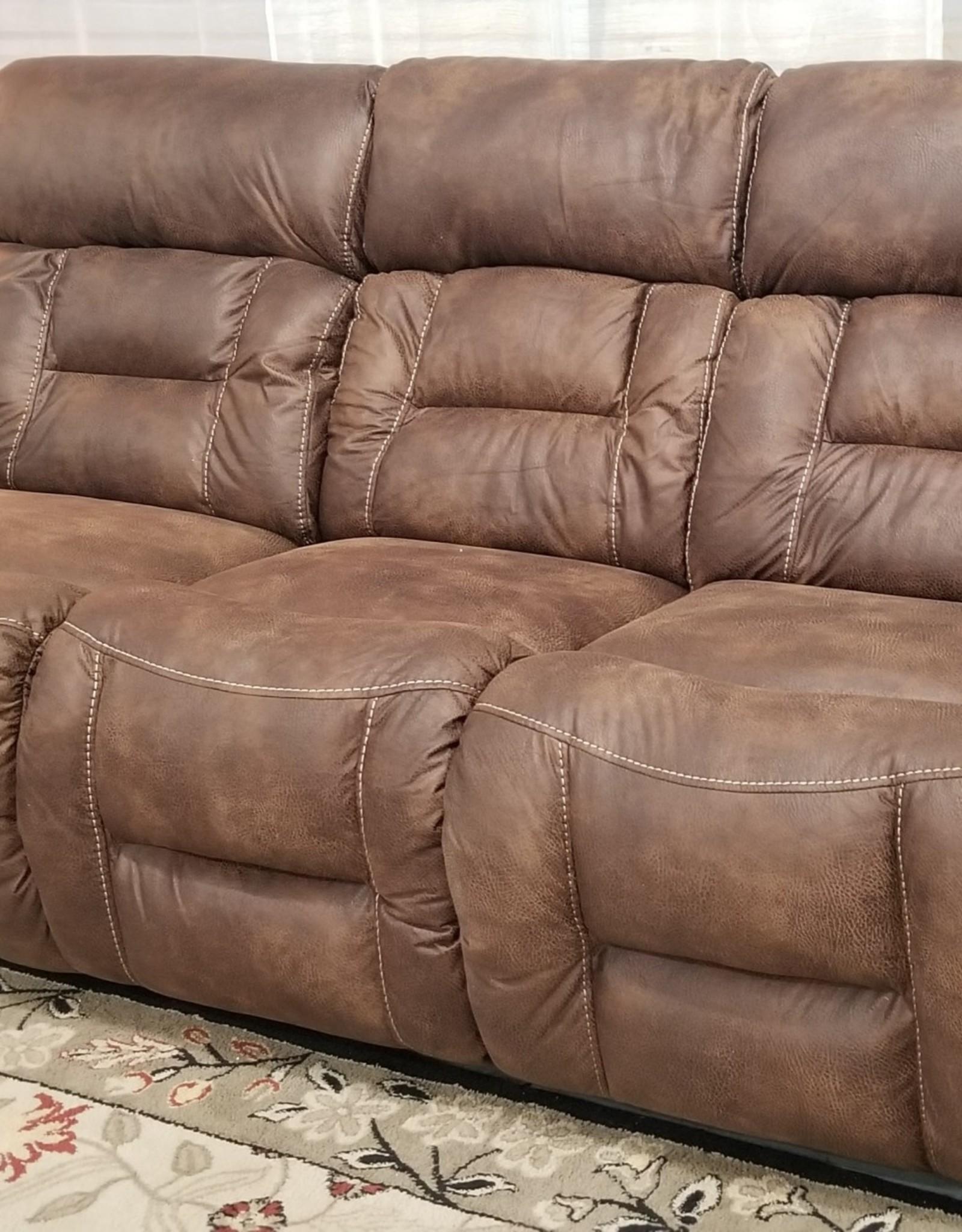 United Dorado Walnut Dual-Reclining Sofa - No Power